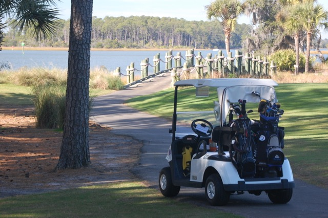 Landings golf cart