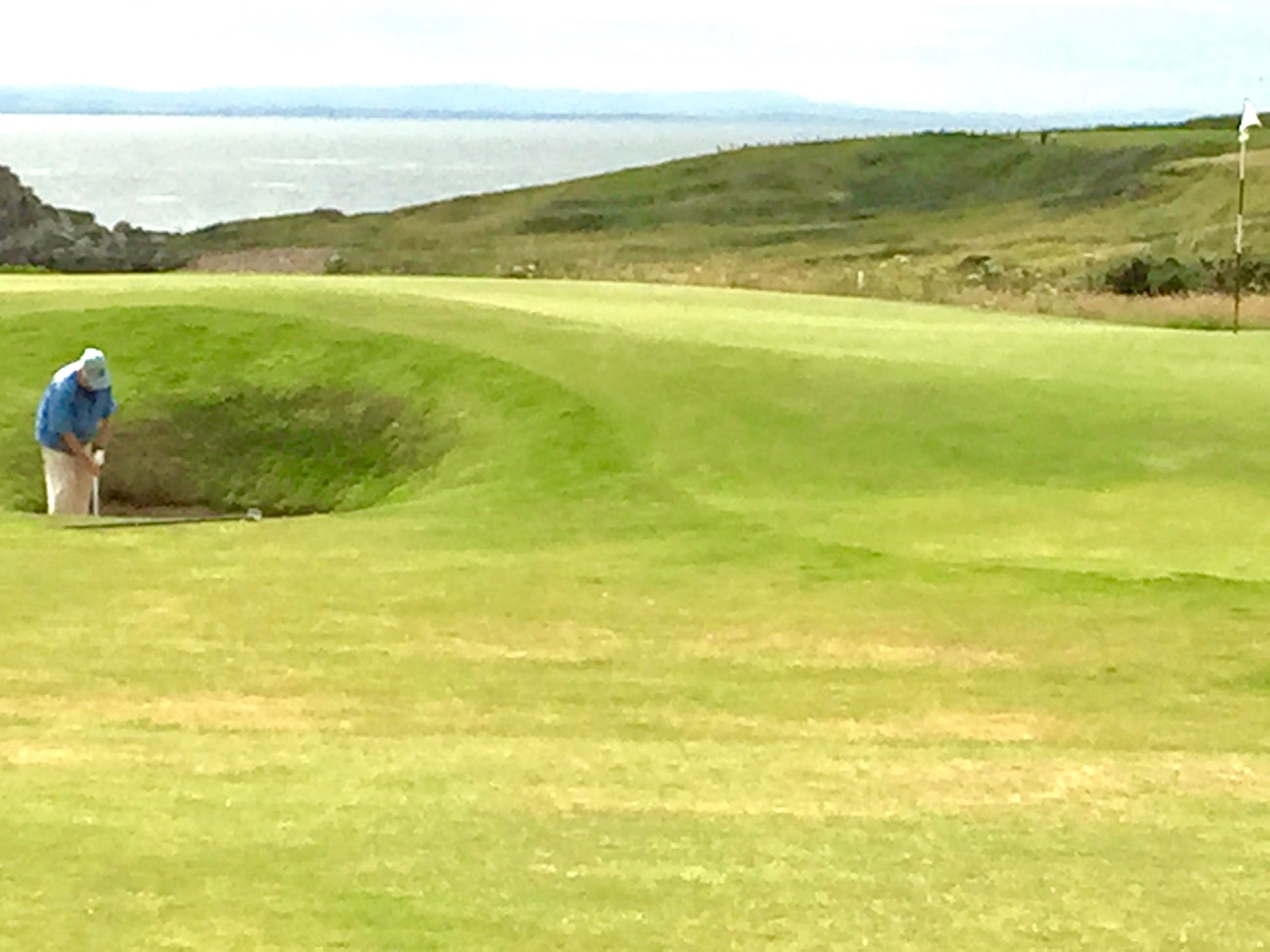 Crail pot bunker and sea